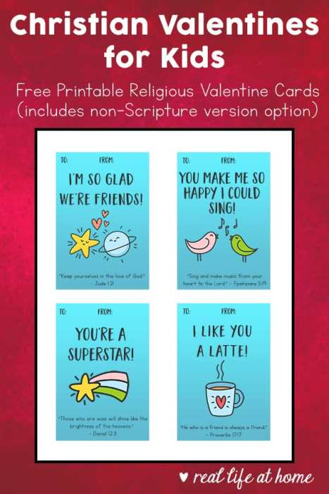 Christian Valentines for Kids: Free Printable Religious Valentine Cards