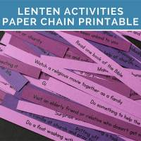50+ Lent Ideas Paper Chain Printable: Things to Add and Things to Give Up for Lent
