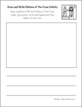Stations of the Cross for Kids Drawing and Writing Activity - sample page from version two | Real Life at Home