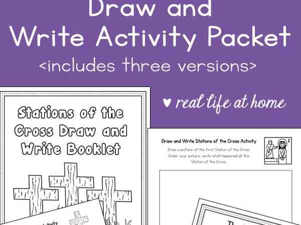 Draw and Write Stations of the Cross Activity: Printable Stations of the Cross for Kids