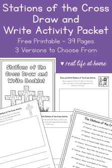 Stations of the Cross Draw and Write Activity Packet