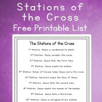 14 Stations of the Cross List - Free Simple Lenten Reflection Printable