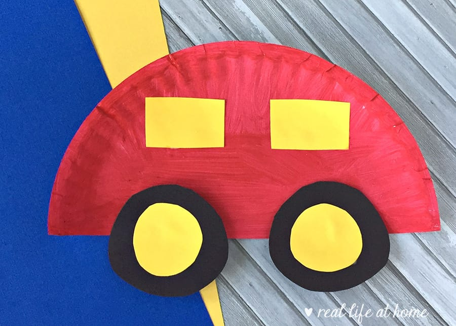 Fun And Easy Paper Plate Car Craft For Kids Real Life At