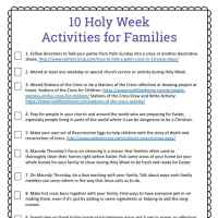 Holy Week for Kids: 10 Holy Week Activities Free Printable