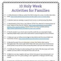Holy Week for Kids: 10 Holy Week Activities Free Printable