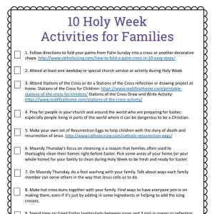 Free printable Holy Week Activities for Families with two versions of the printable, making it a perfect supplement for Holy Week for kids and families of many denominations. | Real Life at Home