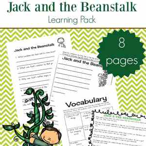 Free printable eight page Jack and the Beanstalk worksheets and printables packet which includes many Jack and the Beanstalk resources for elementary-aged children. There is a Jack and the Beanstalk story printable, as well as seven pages of activities to go along with this.