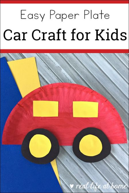 This easy paper plate car craft for kids is sure to please your car-loving kids. This paper plate craft is inexpensive to create and simple to put together. This post also contains information about a free printable car-themed learning packet for preschoolers.