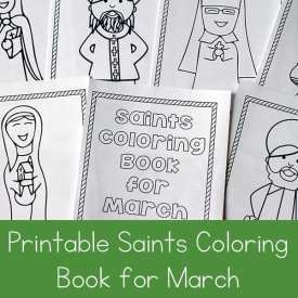 Free Printable Saints Coloring Book for March