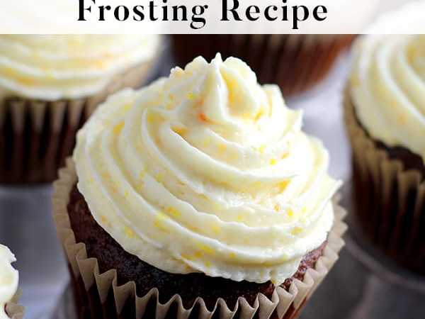 Easy and Fresh Orange Buttercream Frosting Recipe