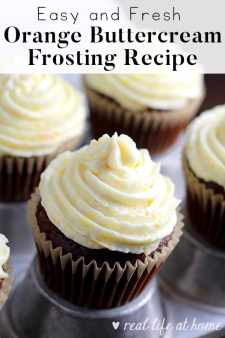 Easy Orange Buttercream Frosting Recipe