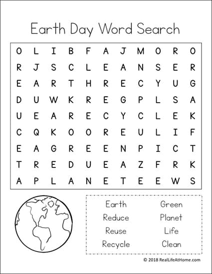 photograph regarding Earth Day Word Search Printable known as Environment Working day Term Appear Printable Packet for Youngsters (Incorporates