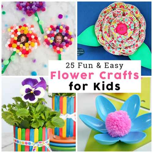 Springtime is such a great time to work on flower crafts. To get you prepared with some ideas for fun flower crafts, I've put together a collection of 25 flower craft ideas for kids. Another bonus is that you can use any of these to make Mother's Day crafts at home, school, or at co-op.