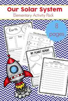 Free Solar System Printables for Elementary Students - featuring a solar system language arts and writing activities | Real Life at Home