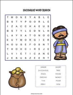 Zacchaeus Story For Kids Free Zacchaeus Printables Packet For