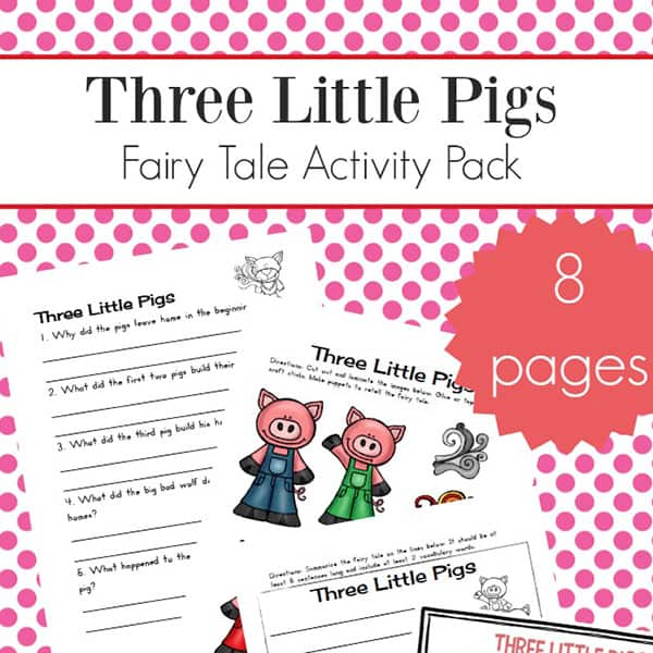 graphic relating to Three Little Pigs Printable Story referred to as A few Minimal Pigs Worksheets and Pursuits Packet for