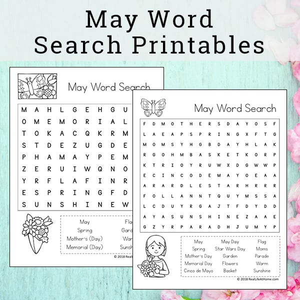 graphic about Free Printable Spring Word Search called No cost Printable: May well Term Appear Printable Puzzle for Youngsters