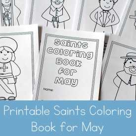 Free Printable Saints Coloring Book for May
