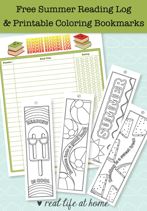 picture relating to Printable Bookmarks identified as No cost Printable Summer time Looking through Log and Printable Bookmarks in the direction of