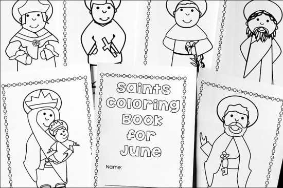 June Catholic Coloring Book Pages from Real Life at Home