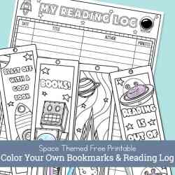 Space Bookmarks and Reading Log