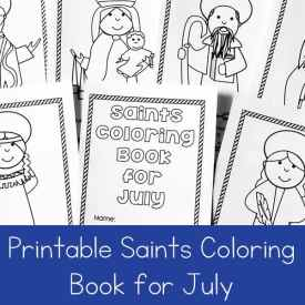 Free Printable Saints Coloring Book for July