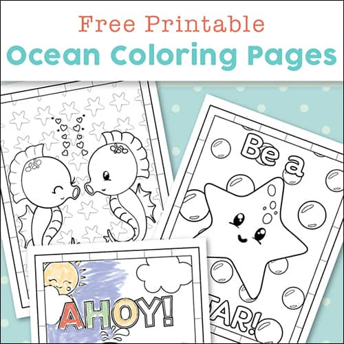 - Super Cute Ocean Coloring Pages For Kids {Free Printables}
