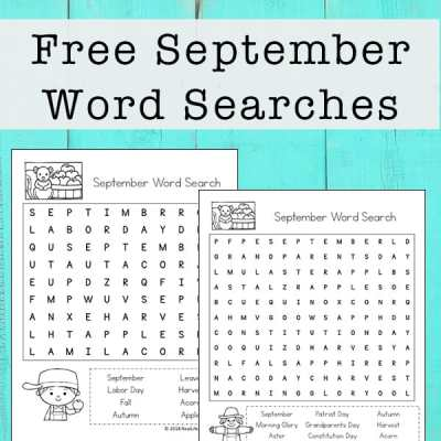 September Word Search Printable for Kids | Real Life at Home