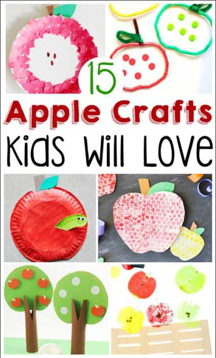 15 apple crafts that your kids will absolutely love! These are fun, budget-friendly apple crafts that are perfect for fall or back to school time. You'll have lots of fun and creativity working on these apple crafts for kids.