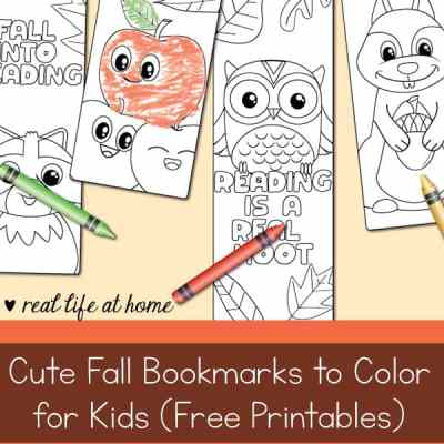 cute fall bookmarks to color for kids free printable
