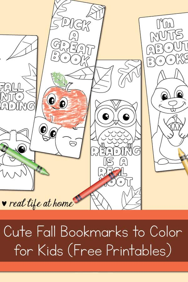 photo regarding Cute Printable Bookmarks identify Adorable Tumble Bookmarks in the direction of Colour for Young children (Totally free Printable)