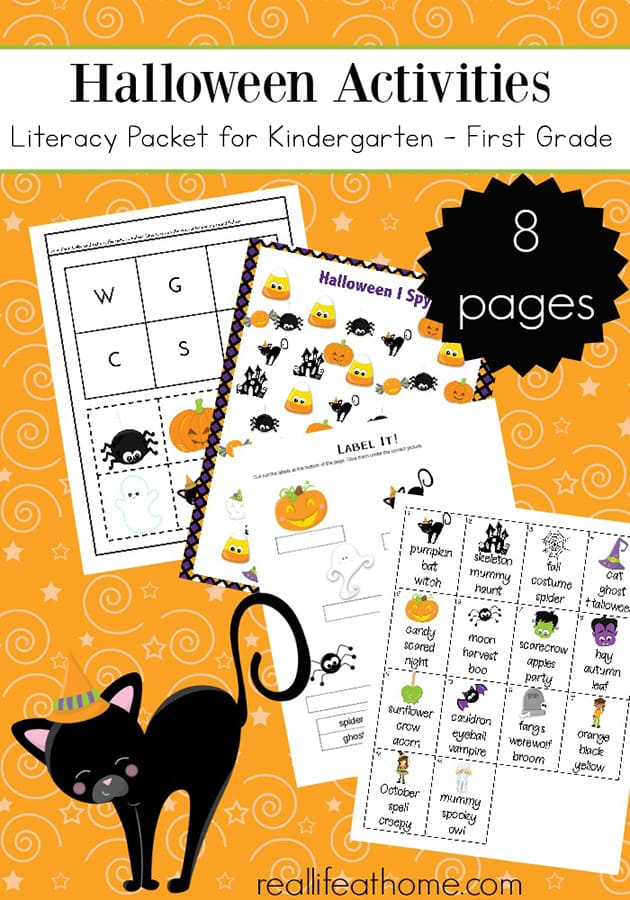 picture about Kindergarten Packet Printable identify Literacy Printable Packet - Halloween Pursuits for