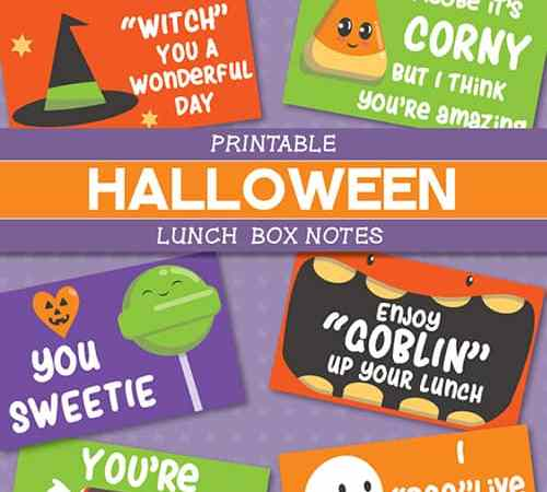 Halloween Lunchbox Notes: Free Printable Halloween Jokes for Kids