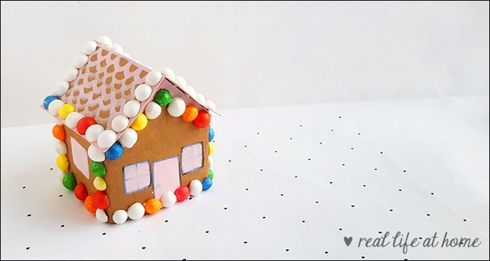 photograph regarding Printable Paper Crafts for Adults referred to as Adorable Gingerbread Household Paper Craft with No cost Printable Template
