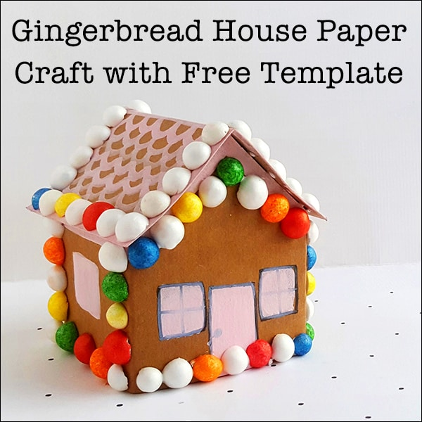 picture regarding Gingerbread House Printable identify Lovely Gingerbread Dwelling Paper Craft with Free of charge Printable Template