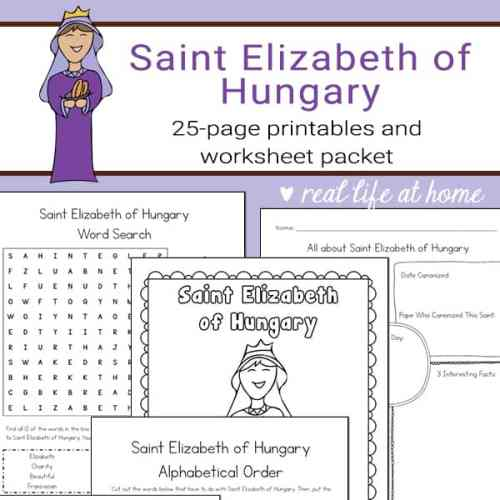Saint Elizabeth of Hungary Printables and Worksheets Packet