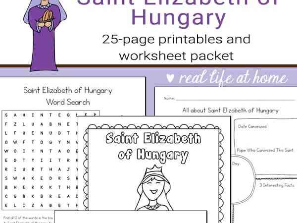 St. Elizabeth of Hungary Printables and Worksheet Packet
