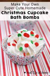 How to Make Your Own Homemade Cupcake Christmas Bath Bombs