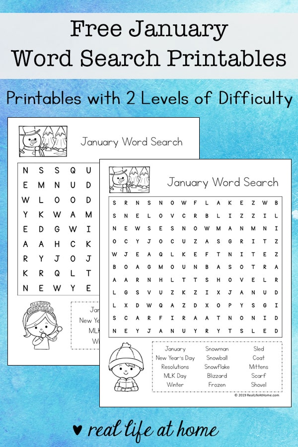 graphic relating to Winter Word Search Free Printable known as term printable -