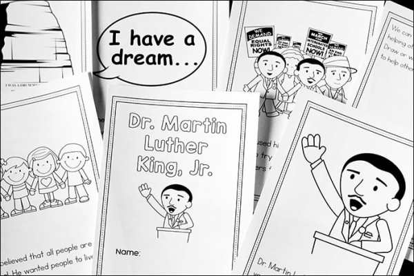 Martin Luther King Jr. Coloring Pages Storybook Printable