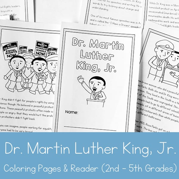 graphic relating to Printable Books for 2nd Graders named Dr. Martin Luther King Jr. Printable Guide for 2nd - 5th Quality