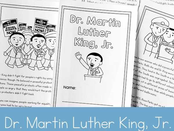 Dr. Martin Luther King Jr. Printable Book for 2nd – 5th Grade