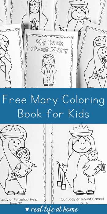 Free Printable Mary Coloring Book For Catholic Kids