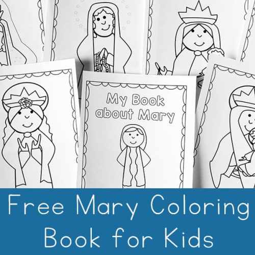 Free Mary Coloring Book for Kids from Real Life at Home
