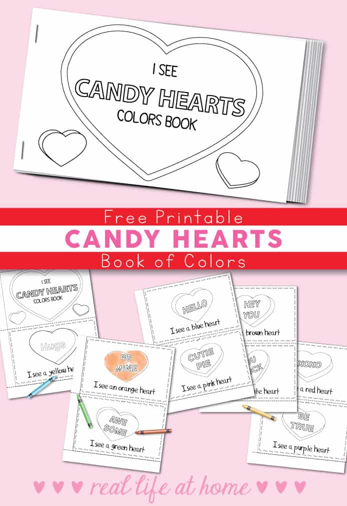 graphic about Hearts Printable titled No cost Printable Sweet Hearts Valentine Shade Reserve for Children