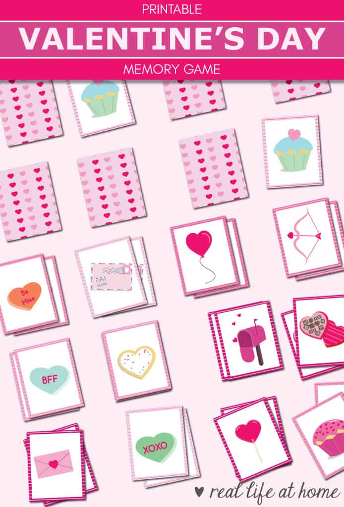 picture regarding Printable Kids Game called No cost Printable Valentine Memory Activity (Matching) for Young children