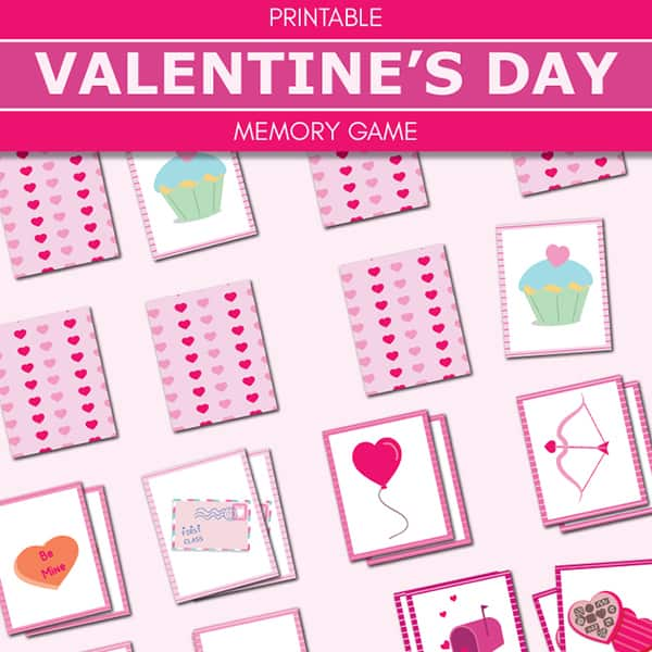 photo about Memory Games Printable named Cost-free Printable Valentine Memory Match (Matching) for Small children
