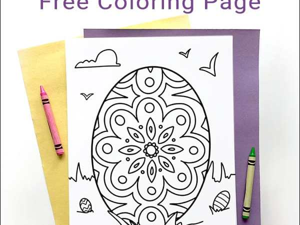 Decorative Easter Egg Coloring Page for Kids and Adults