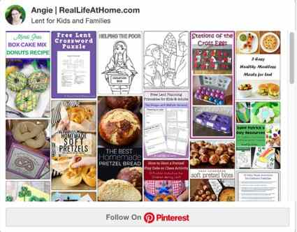 Lent Activities for Kids and Families on Pinterest