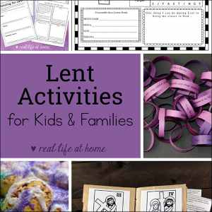 Lent Activities for Kids and Families - featuring hands-on Lenten activities, printables for Lent, and more